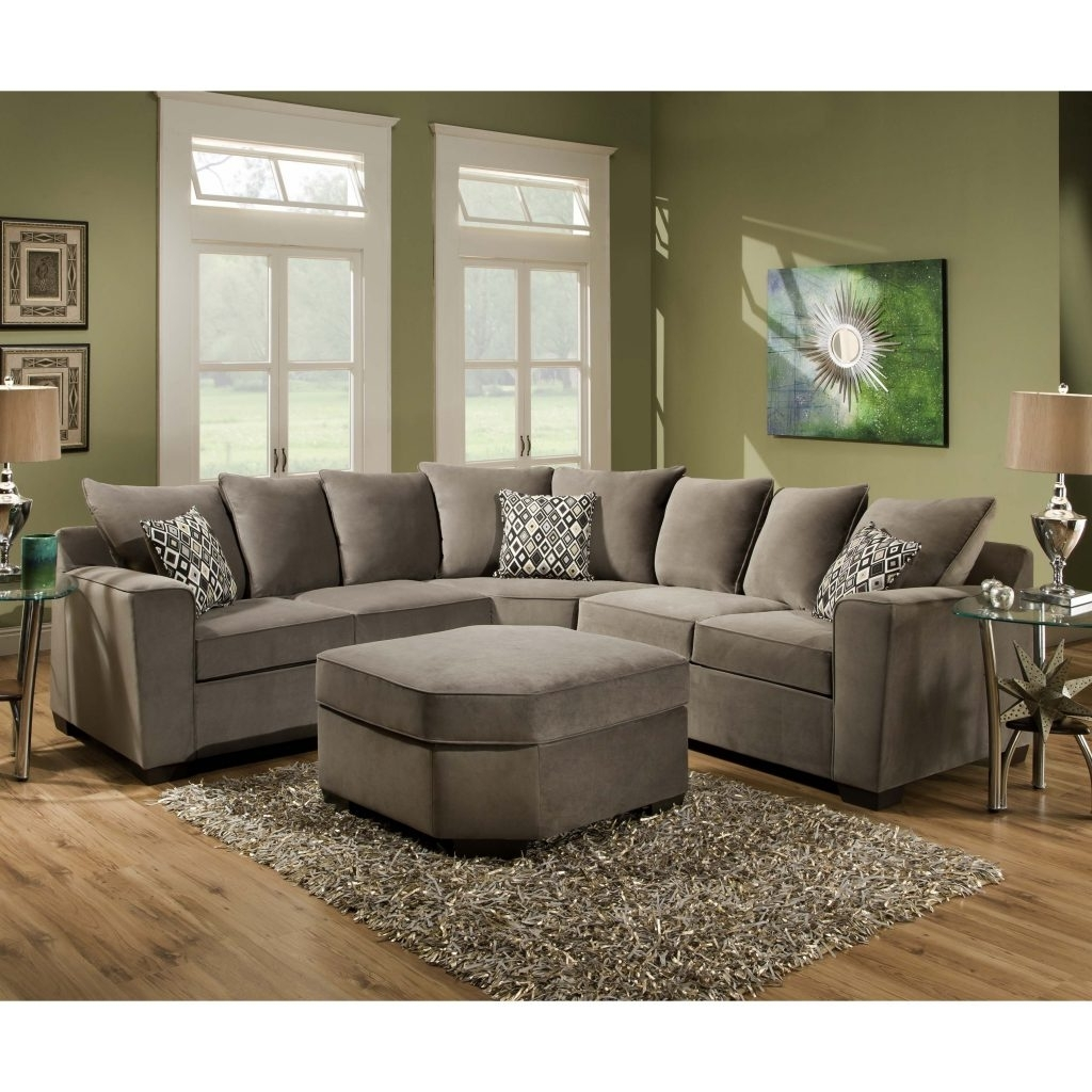 Most Recently Released Sectional Sofas Under 1000 Within Sofa Greyectional Gray With Recliner Leonsleeper Nailhead Trim (View 9 of 20)