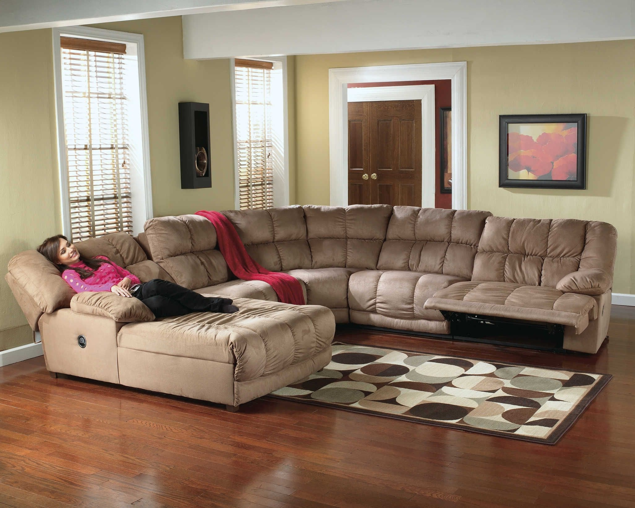Most Recently Released Sectional Sofas With Recliners For Microfiber Recliner Sectional (View 6 of 20)