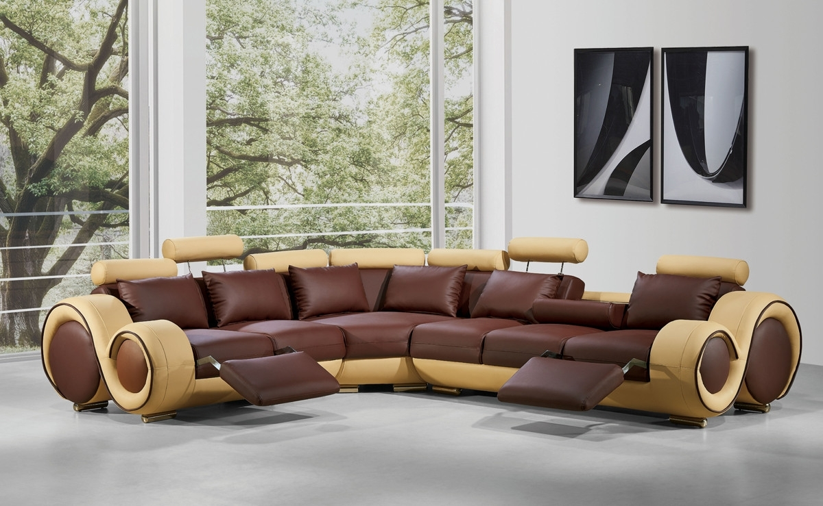 Most Recently Released Sectional Sofas With Recliners Leather With Regard To Modern Leather Sectional Sofa With Recliners (View 5 of 20)