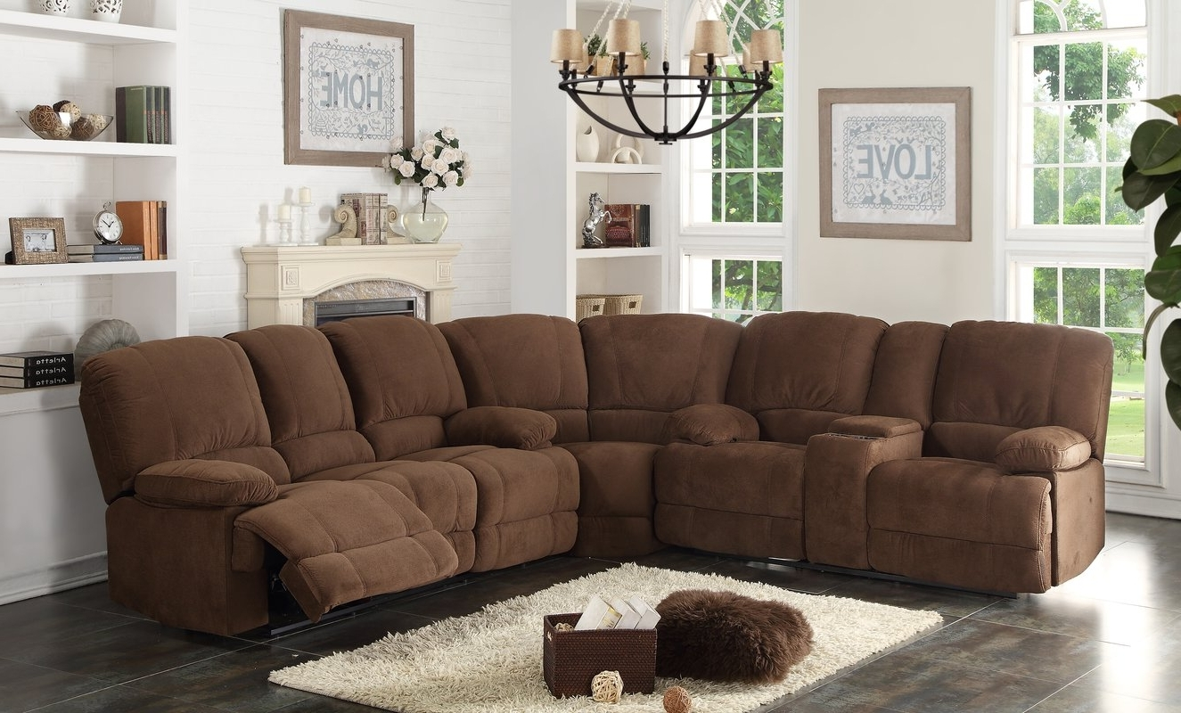 Most Recently Released Sectional Sofas With Recliners Pertaining To Ac Pacific Kevin Reclining Sectional & Reviews (View 9 of 20)