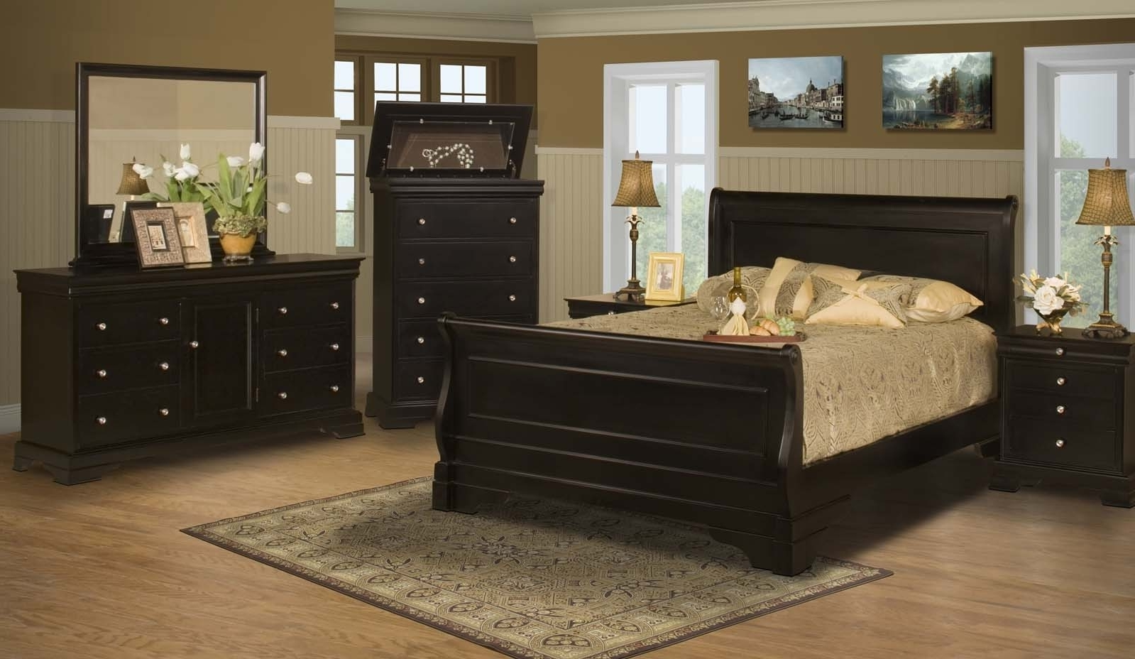 Most Recently Released Stratford Black Cherry Bedroom Furniture Collection For $ (View 9 of 20)
