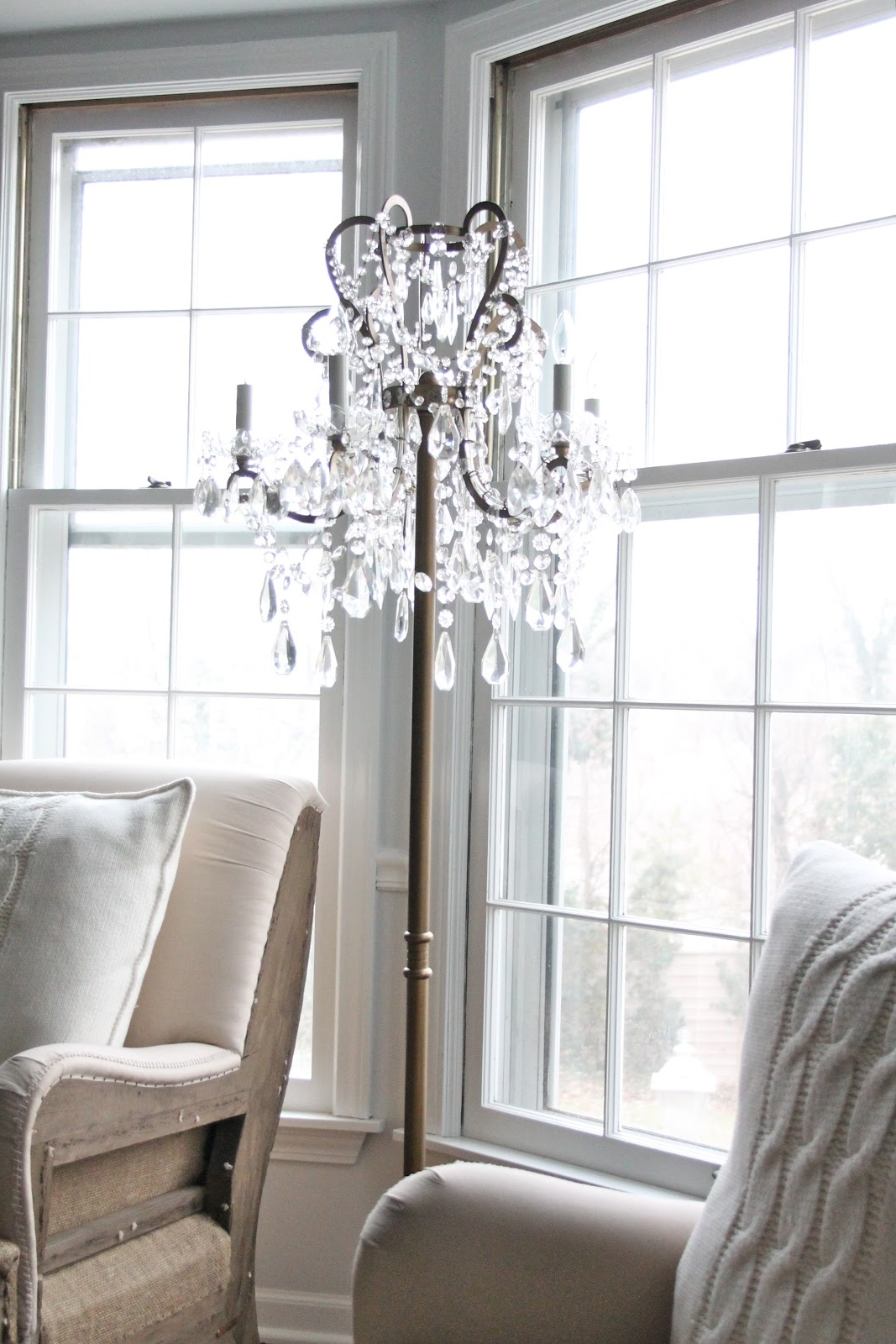 Most Recently Released Tall Standing Chandelier Lamps With Regard To Chandelier Floor Lamp (View 14 of 20)