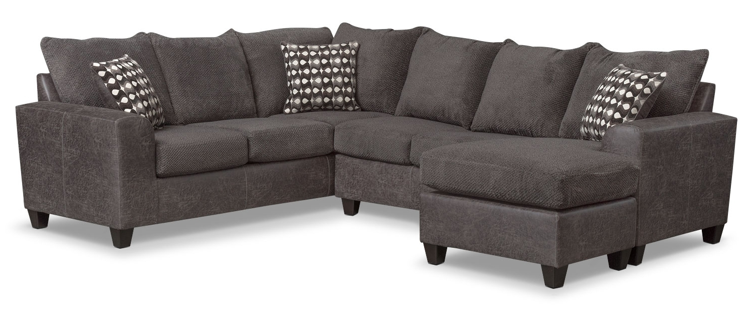 Most Recently Released The Brando Sectional Collection – Smoke (View 8 of 20)