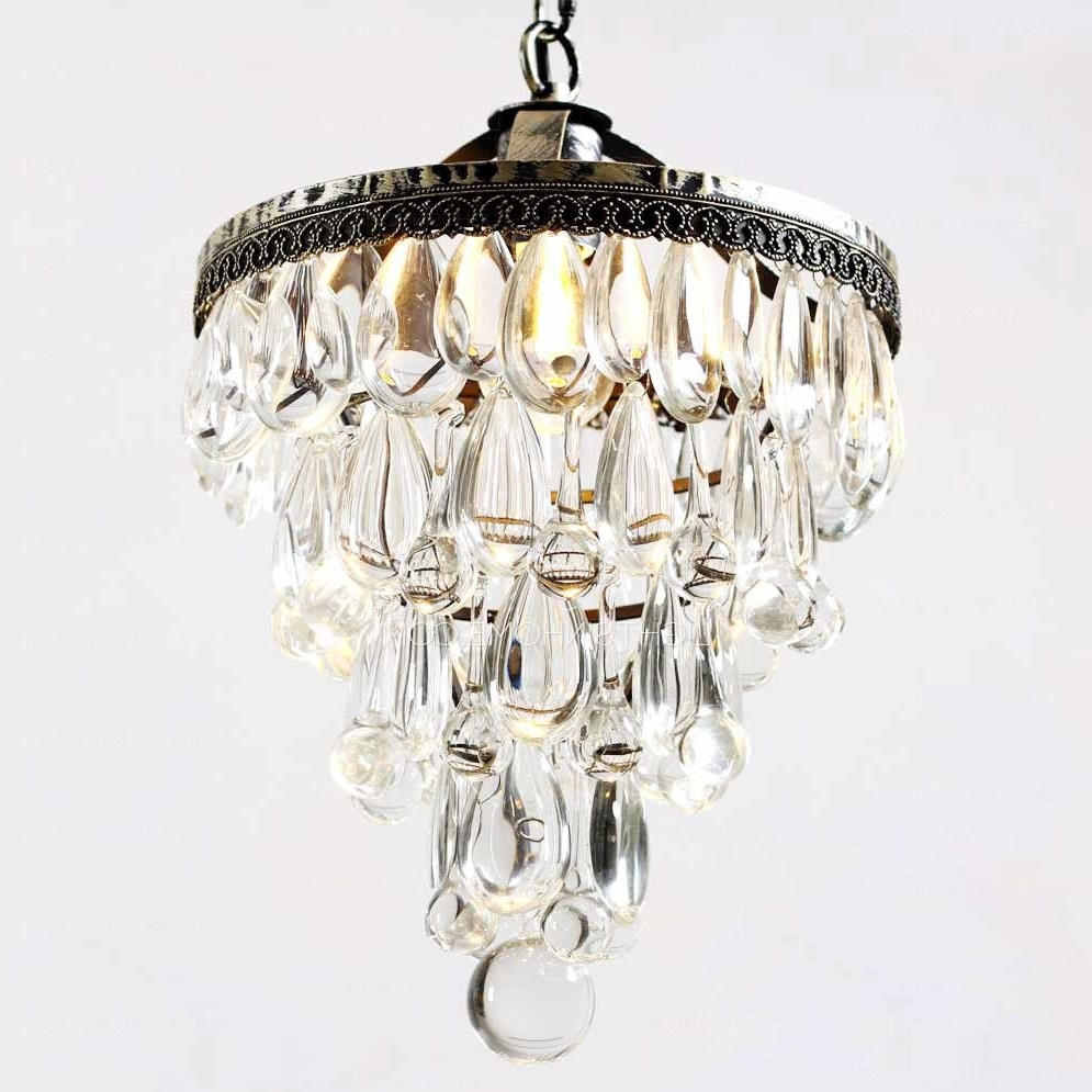 Most Recently Released Tiny Chandeliers Throughout Vintage Wrought Iron  (View 11 of 20)