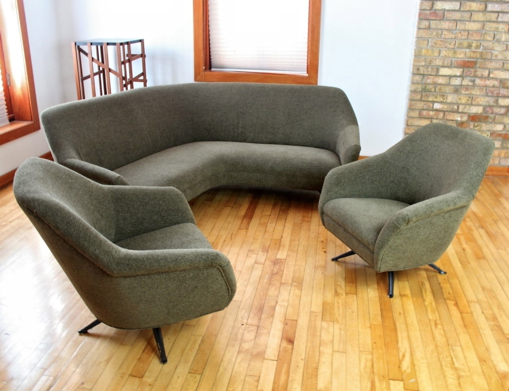 Most Recently Released Tufted Curved Sectional Sofa — Fabrizio Design : Decorating Living Within Rounded Sofas (View 2 of 20)
