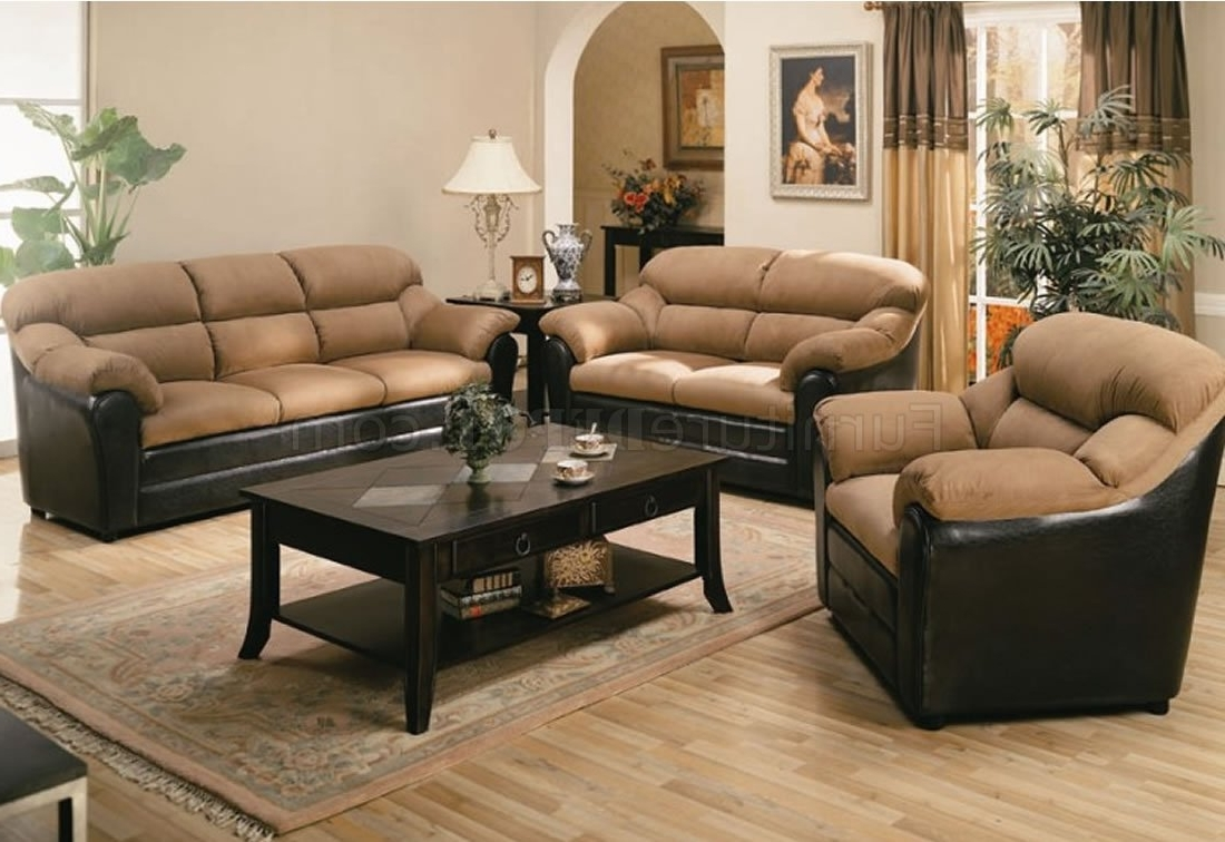 Most Recently Released Two Tone Sofas With Regard To Two Tone Mocha Contemporary Living Room 501881N (View 6 of 20)