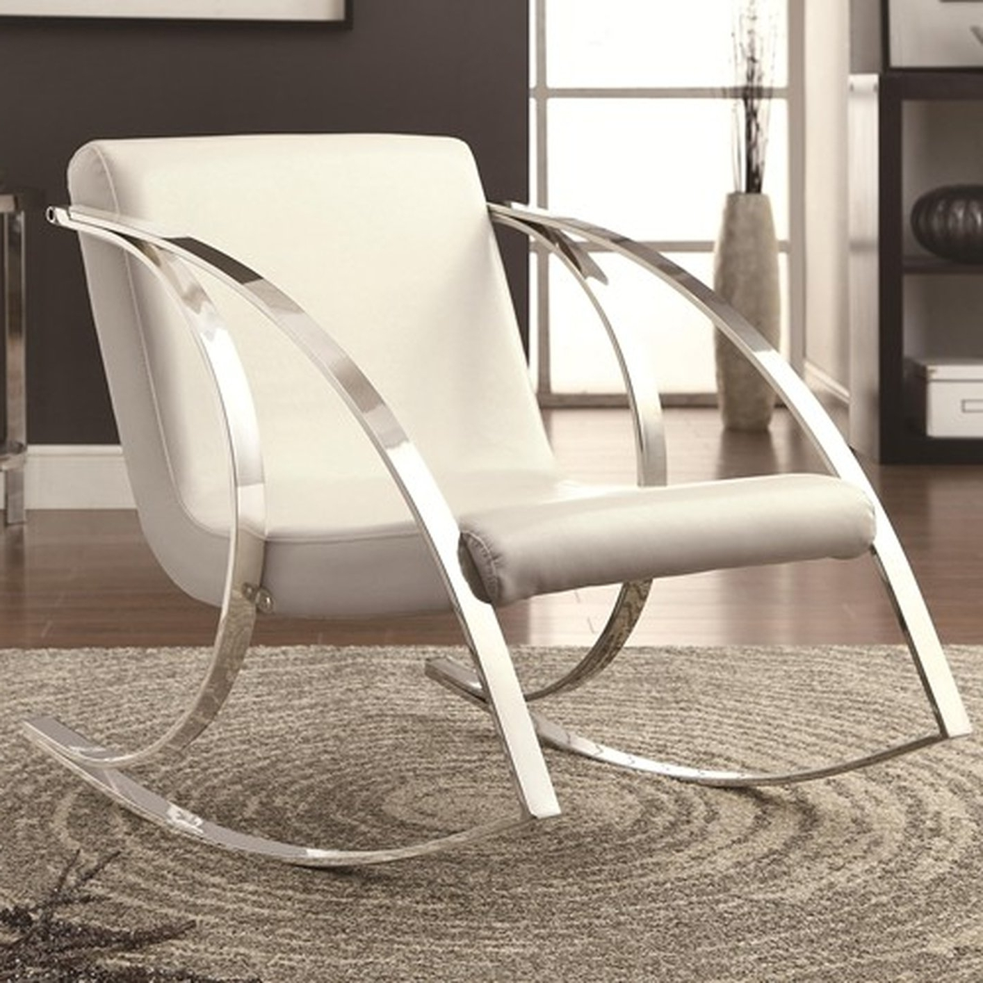 Most Recently Released White Leather Rocking Chair – Steal A Sofa Furniture Outlet Los With Regard To Rocking Sofa Chairs (View 10 of 20)