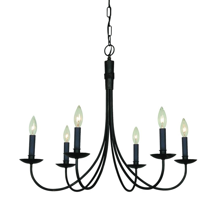 Most Recently Released Wrought Iron Chandelier Throughout Shop Artcraft Lighting Wrought Iron 28 In 6 Light Ebony Black (View 14 of 20)