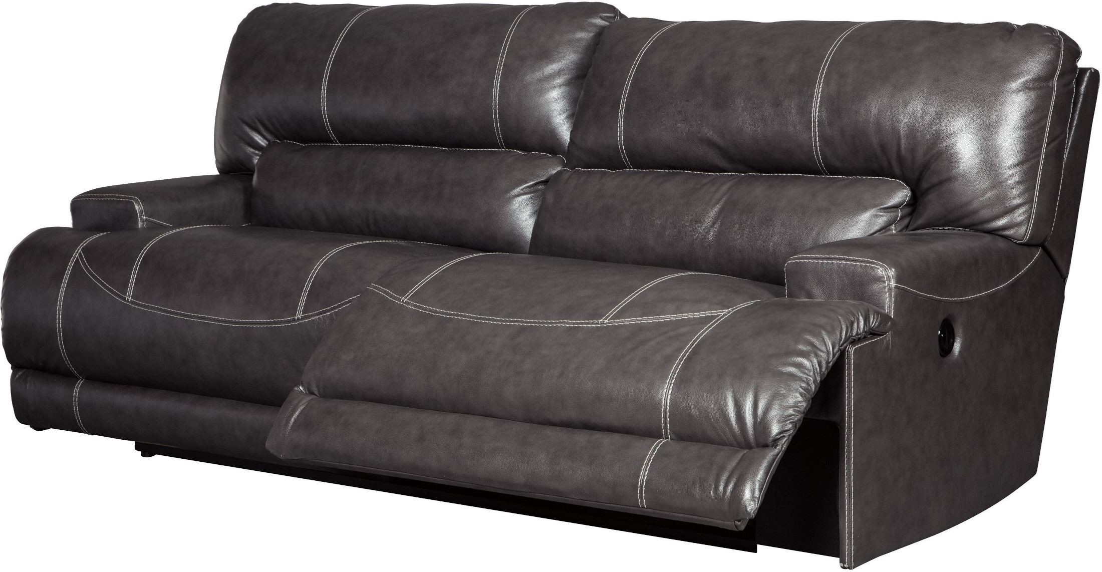 Most Up To Date 2 Seat Recliner Sofas In Signature Designashley Mccaskill Gray 2 Seat Reclining Sofa (View 16 of 20)