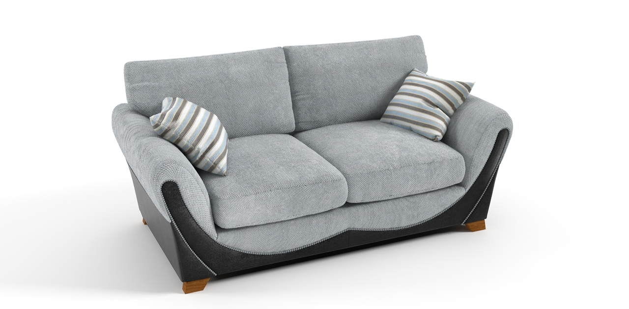Most Up To Date 2 Seater Grey Black Sofa Pertaining To Black 2 Seater Sofas (View 13 of 20)