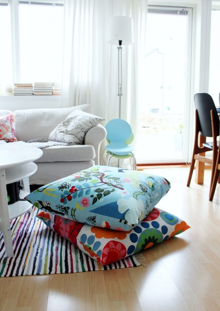 Most Up To Date 57 Cool Ideas To Decorate Your Place With Floor Pillows – Shelterness In Floor Cushion Sofas (View 16 of 20)