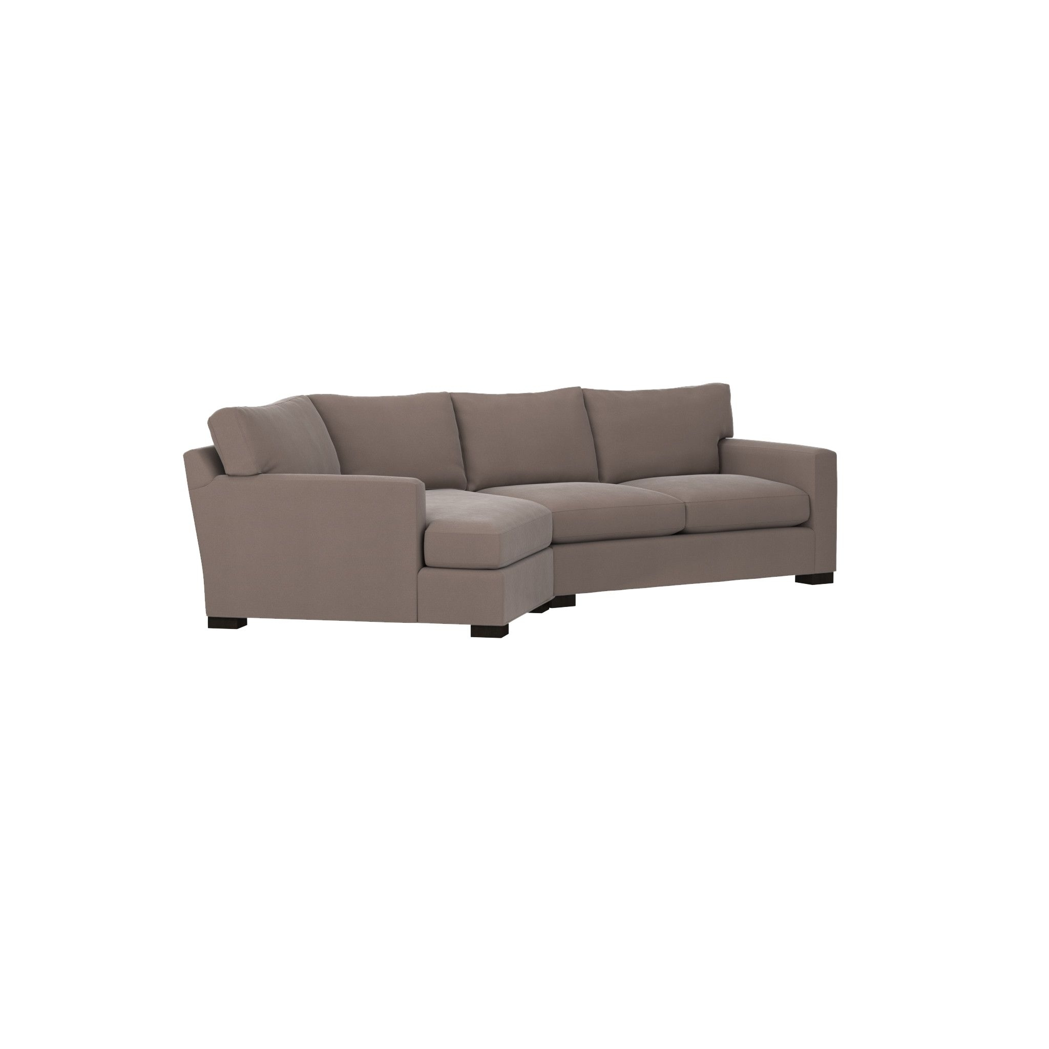 Most Up To Date Angled Chaise Sofas Regarding Axis Ii 2 Piece Right Arm Angled Chaise Sectional Sofa Crate And (View 16 of 20)