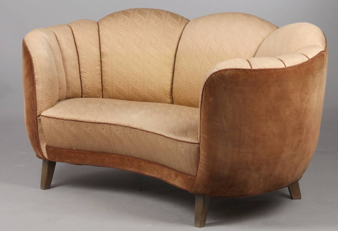 Most Up To Date Art Deco Sofas Regarding Art Deco Curved Sofa At 1Stdibs (View 15 of 20)