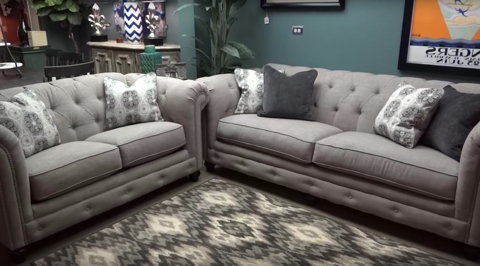 Featured Photo of Ashley Tufted Sofas