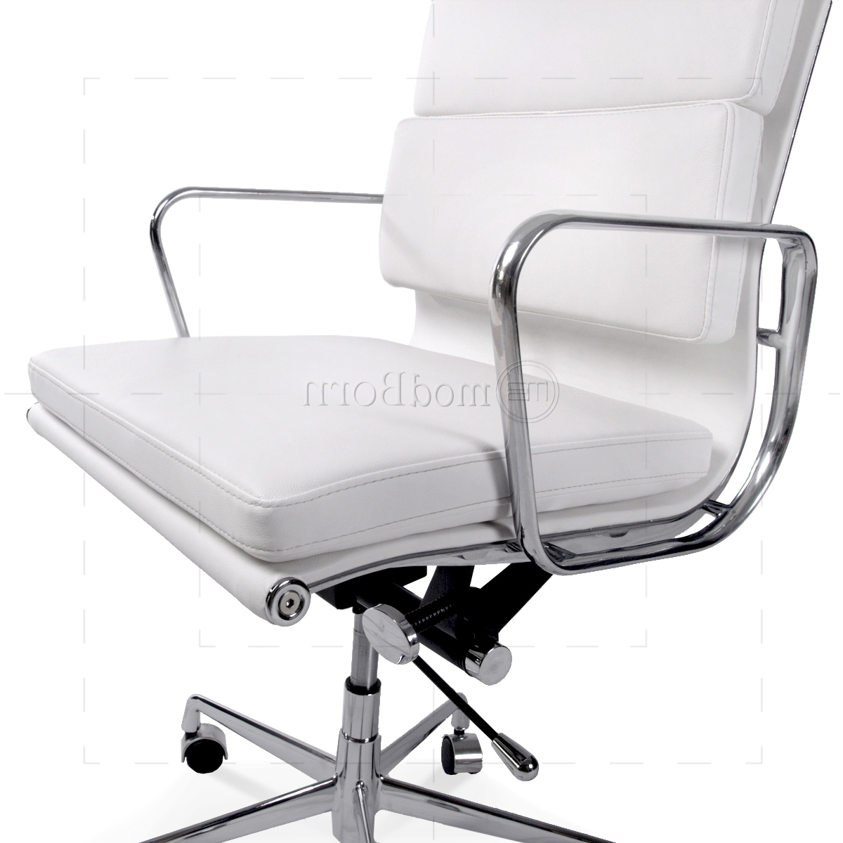 Most Up To Date Beautiful White Leather High Back Office Chair Pictures For Sleek Style Executive Office Chairs (View 9 of 20)