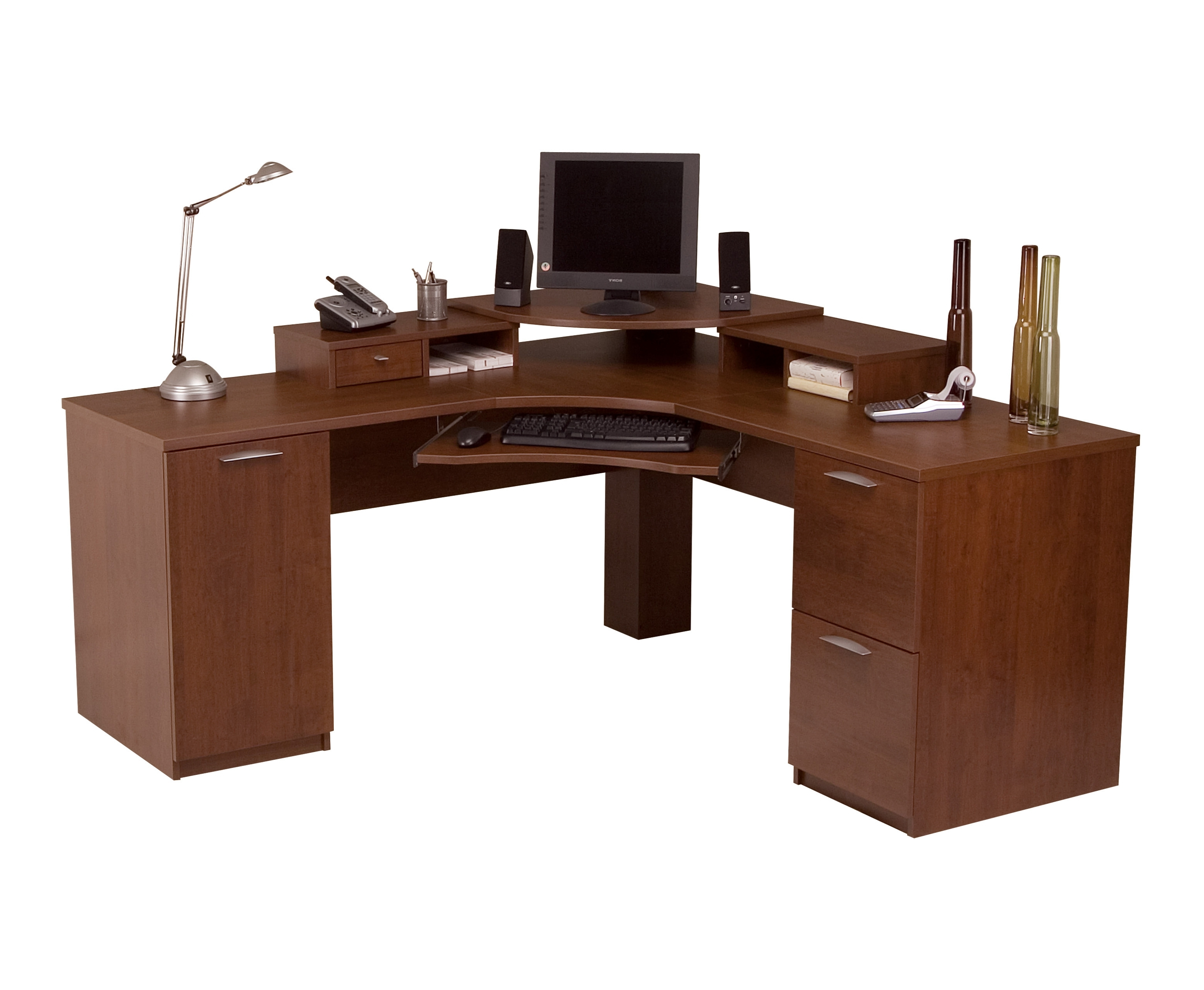 Most Up To Date Bestar Elite Tuscany Corner Computer Desk 68430 63 In Corner Computer Desks (View 16 of 20)