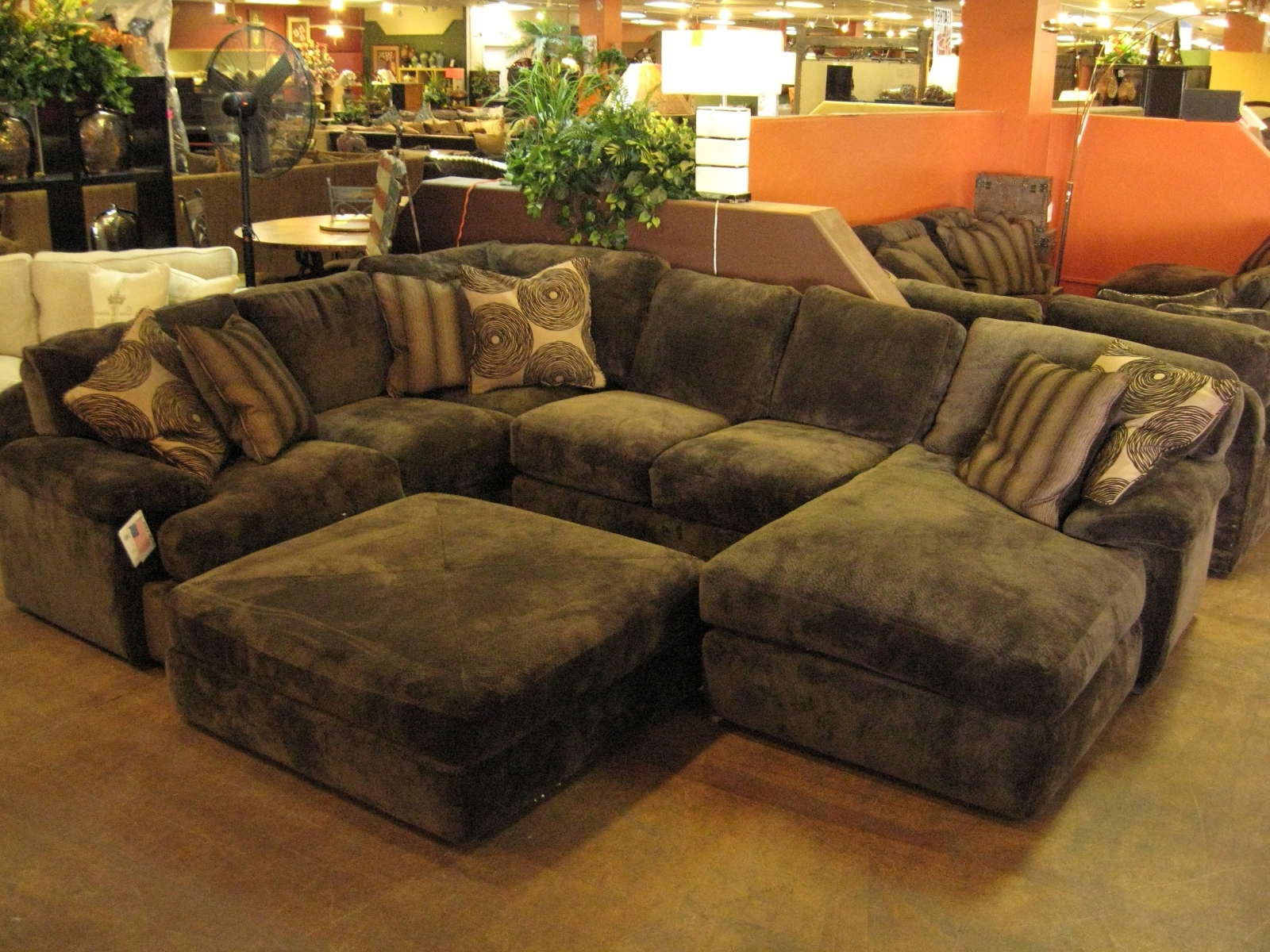 Most Up To Date Black Velvet Fabric Sectional Sleeper Sofa With Chaise Lounge And Throughout Sectional Sofas With Chaise Lounge And Ottoman (View 15 of 20)