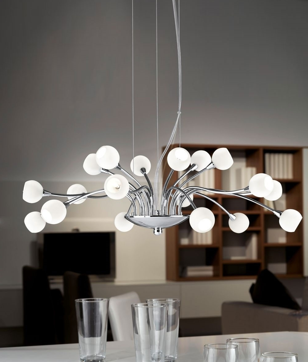 Most Up To Date Chandelier: Inspiring Modern Chandelier Modern Chandeliers For Pertaining To White Contemporary Chandelier (View 13 of 20)