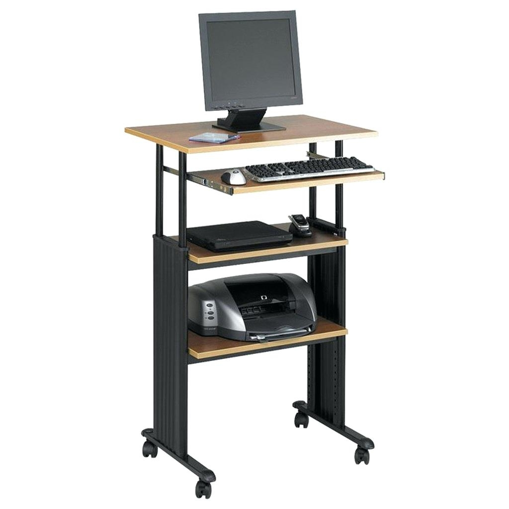 Most Up To Date Computer Desks : Small Vertical Computer Desk Corner Desktop Dual In Vertical Computer Desks (View 5 of 20)