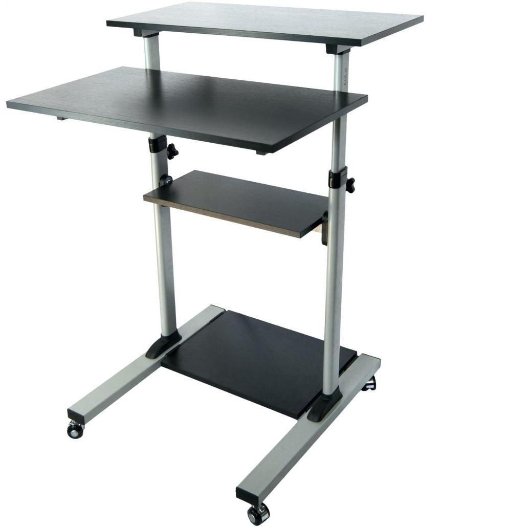 Most Up To Date Computer Desks : Stylish Minimalist Metal Computer Desk Shelf Pertaining To Vertical Computer Desks (View 6 of 20)