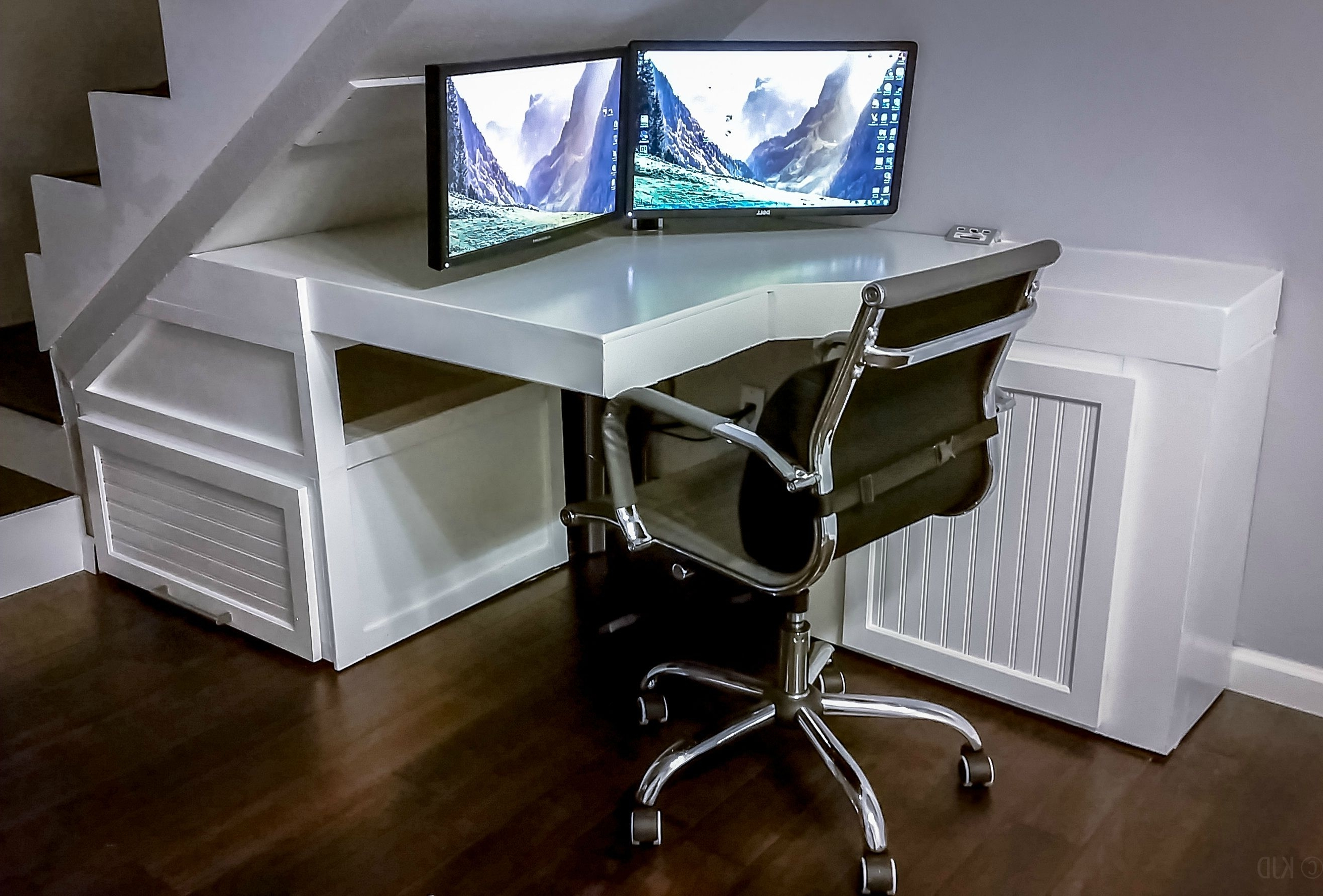 Most Up To Date Computer Desks Under Stairs For Whiteboard Desk Under The Stairs Project – Album On Imgur (Gallery 1 of 20)