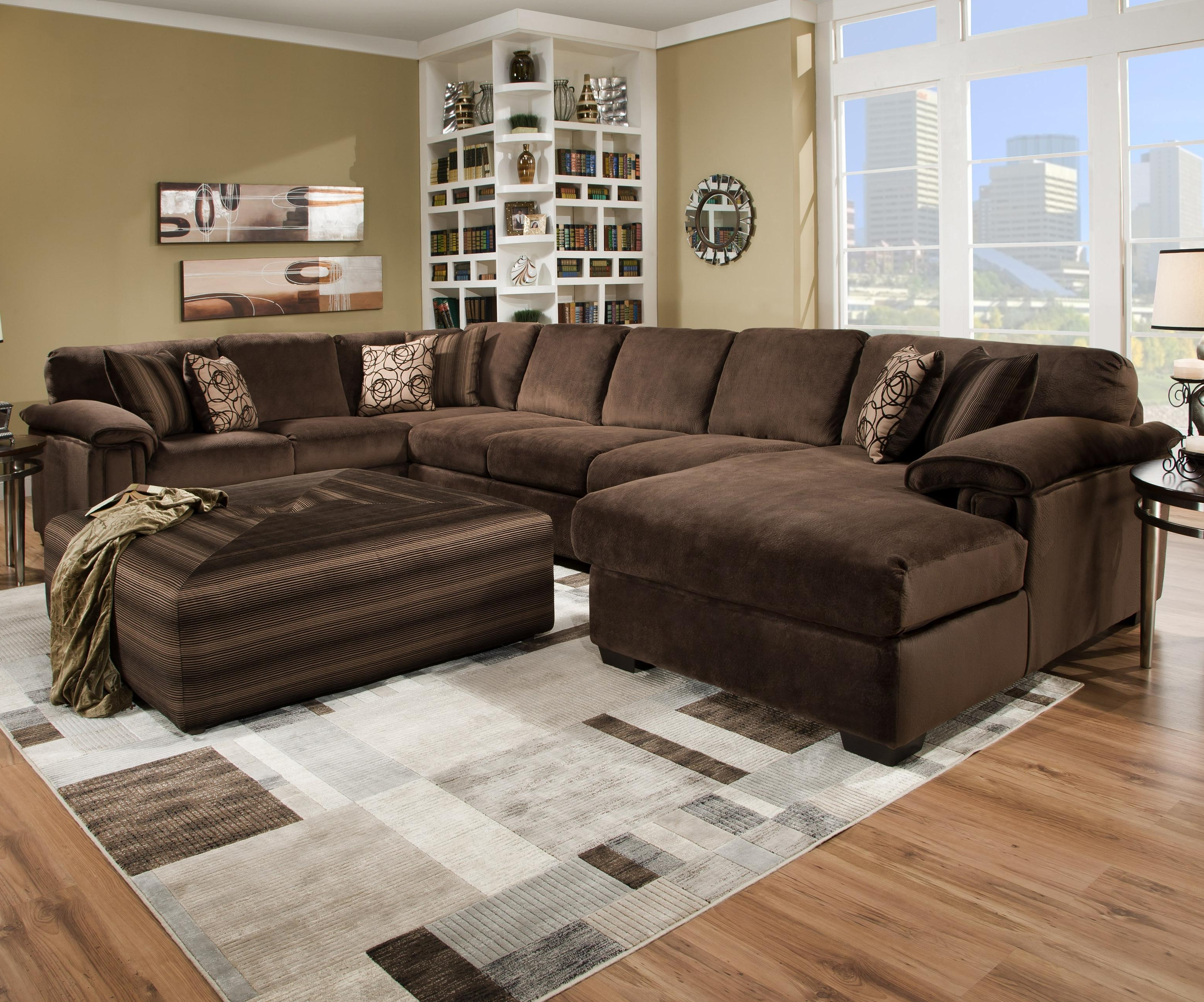 Most Up To Date Craftsman Sectional Sofas Intended For Large Sectional Sofa With Ottoman (View 16 of 20)