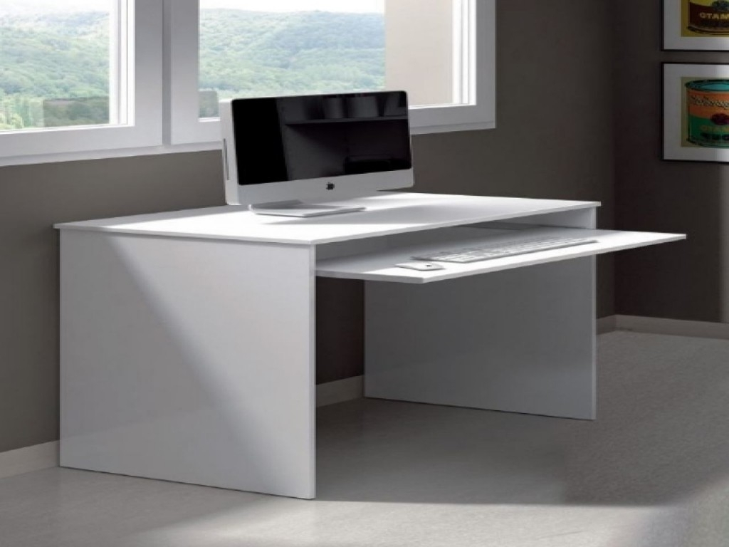 Most Up To Date Desk : Compact Corner Computer Desks For Home Slimline Computer Intended For Computer Desks In White (Gallery 1 of 20)