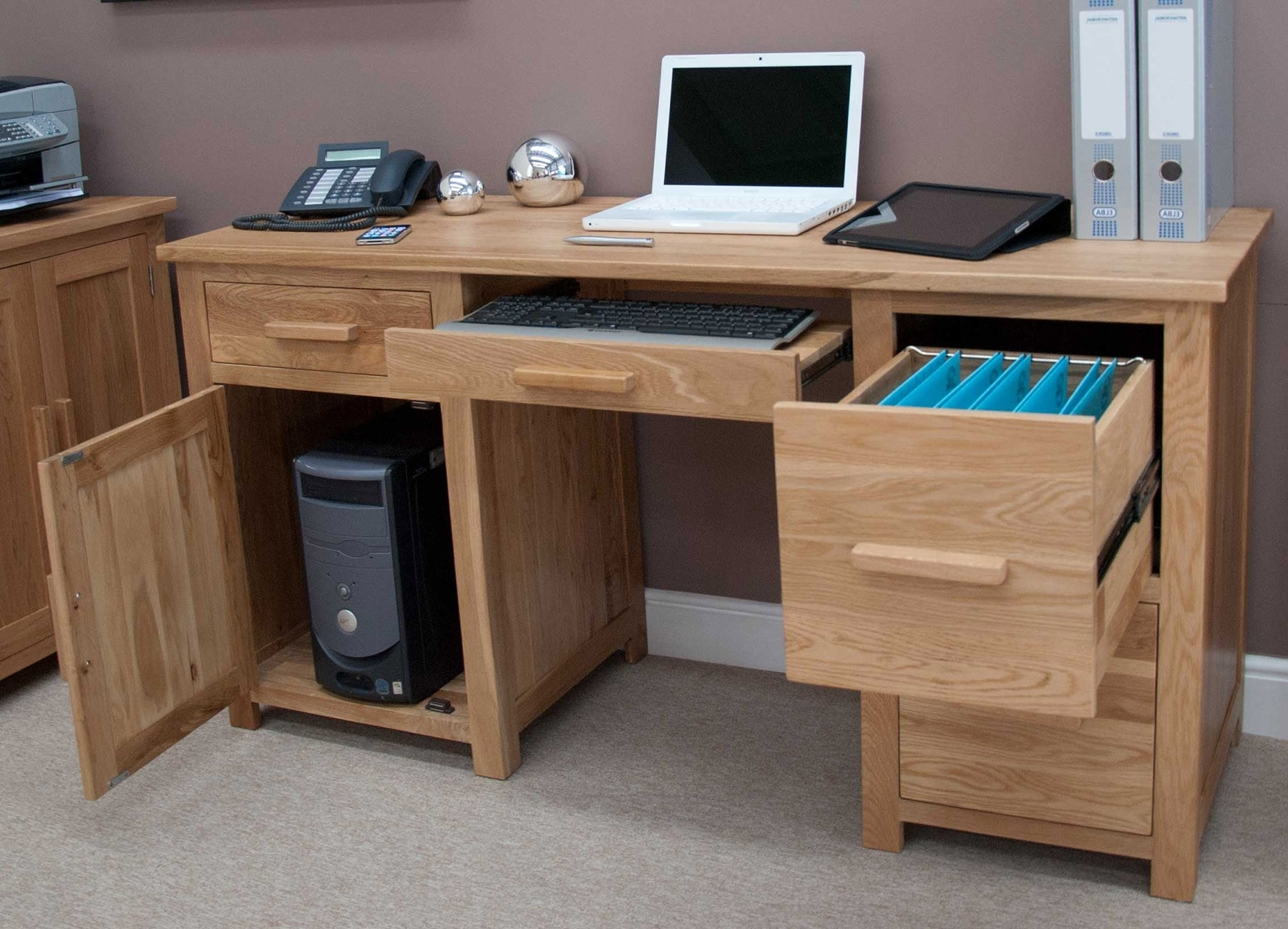 Most Up To Date Desk Design Ideas: Opis Solid Large Computer Desk Modern For Large Computer Desks (View 2 of 20)