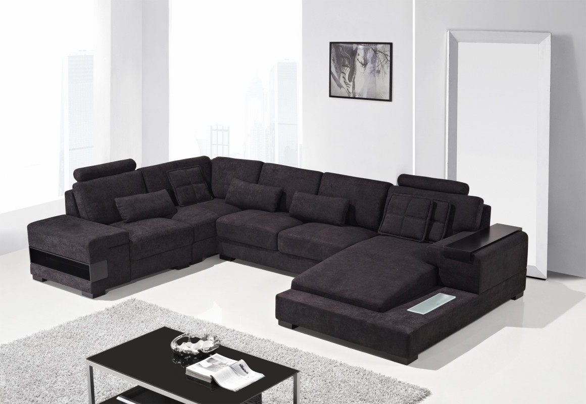 Most Up To Date Divani Casa Diamond – Modern Fabric Sectional Sofa – Italmoda With Regard To Nashua Nh Sectional Sofas (View 8 of 20)