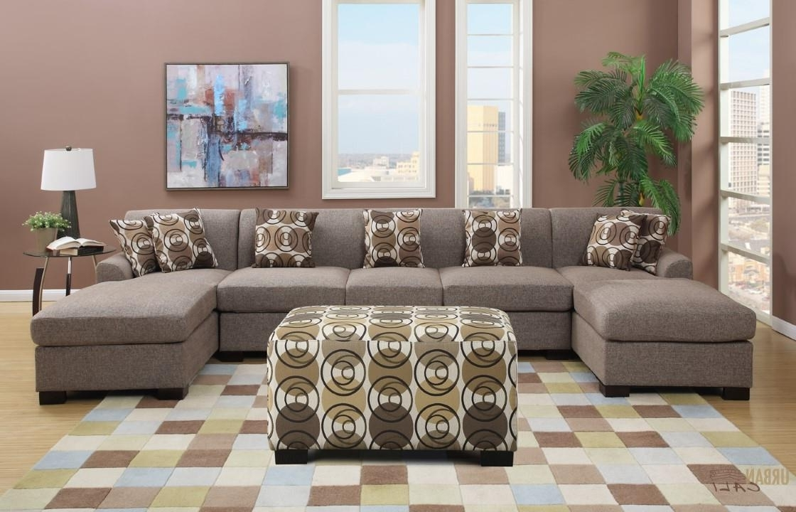 Most Up To Date Extra Large U Shaped Sectionals Throughout Sectional Sofa : Large Sectional Sofas Leather Sofa L Shaped Brown (View 12 of 20)