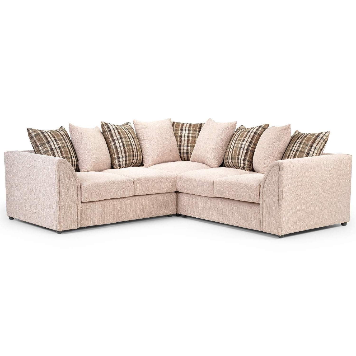 Most Up To Date Fabric Corner Sofas Intended For Nevada Large Fabric Corner Sofa – Next Day Delivery Nevada Large (View 14 of 20)