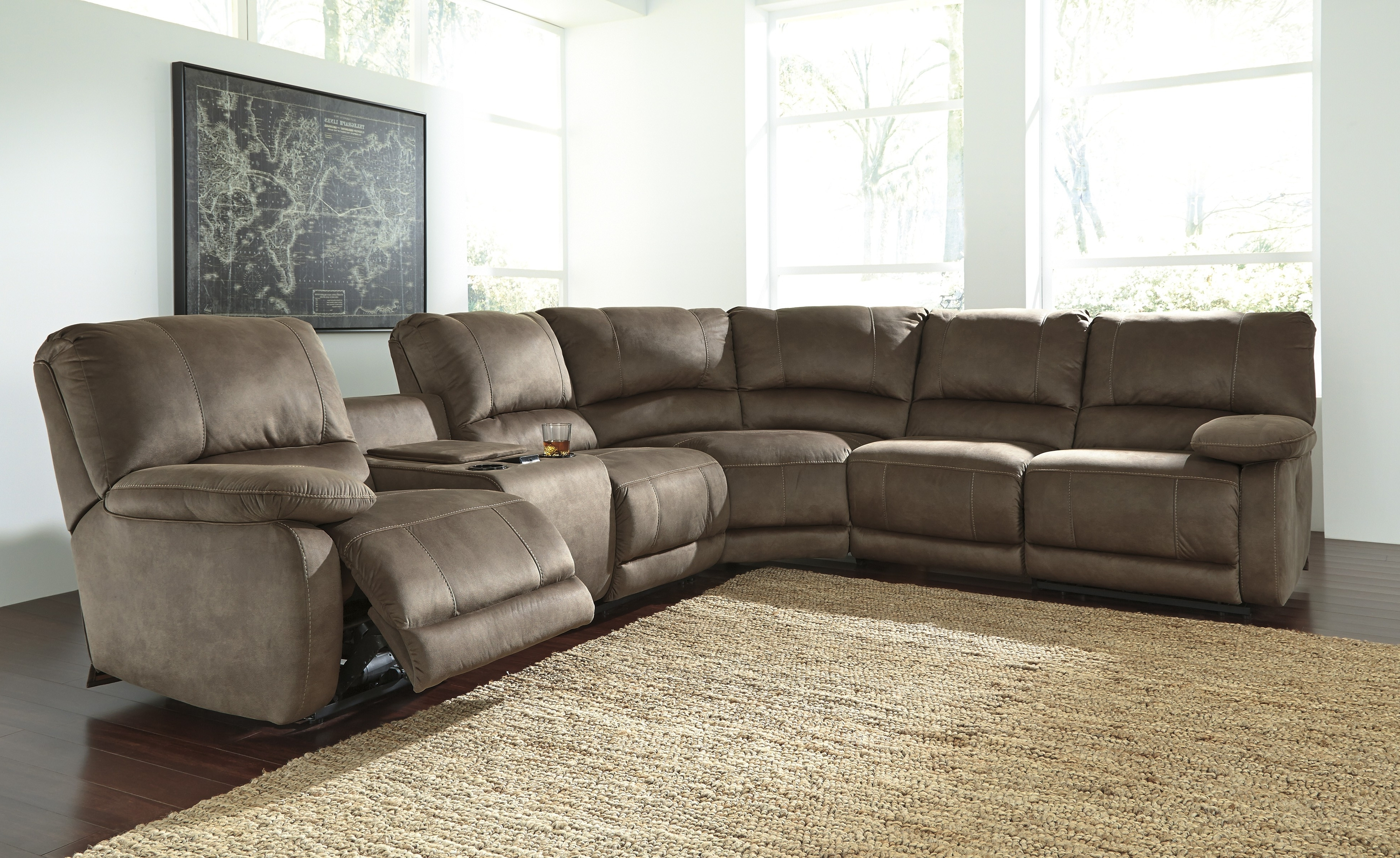Most Up To Date Fabric Sectional Sofa With Power Recliner Leather Sofas Recliners With Sectional Sofas With Electric Recliners (View 10 of 20)