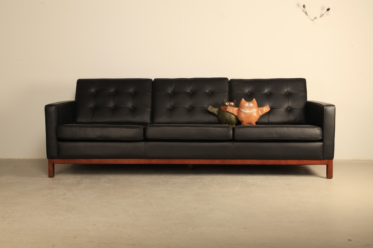 Most Up To Date Florence Knoll Wood Legs Sofas With Florence 3 Seater Sofa – Homage (View 16 of 20)