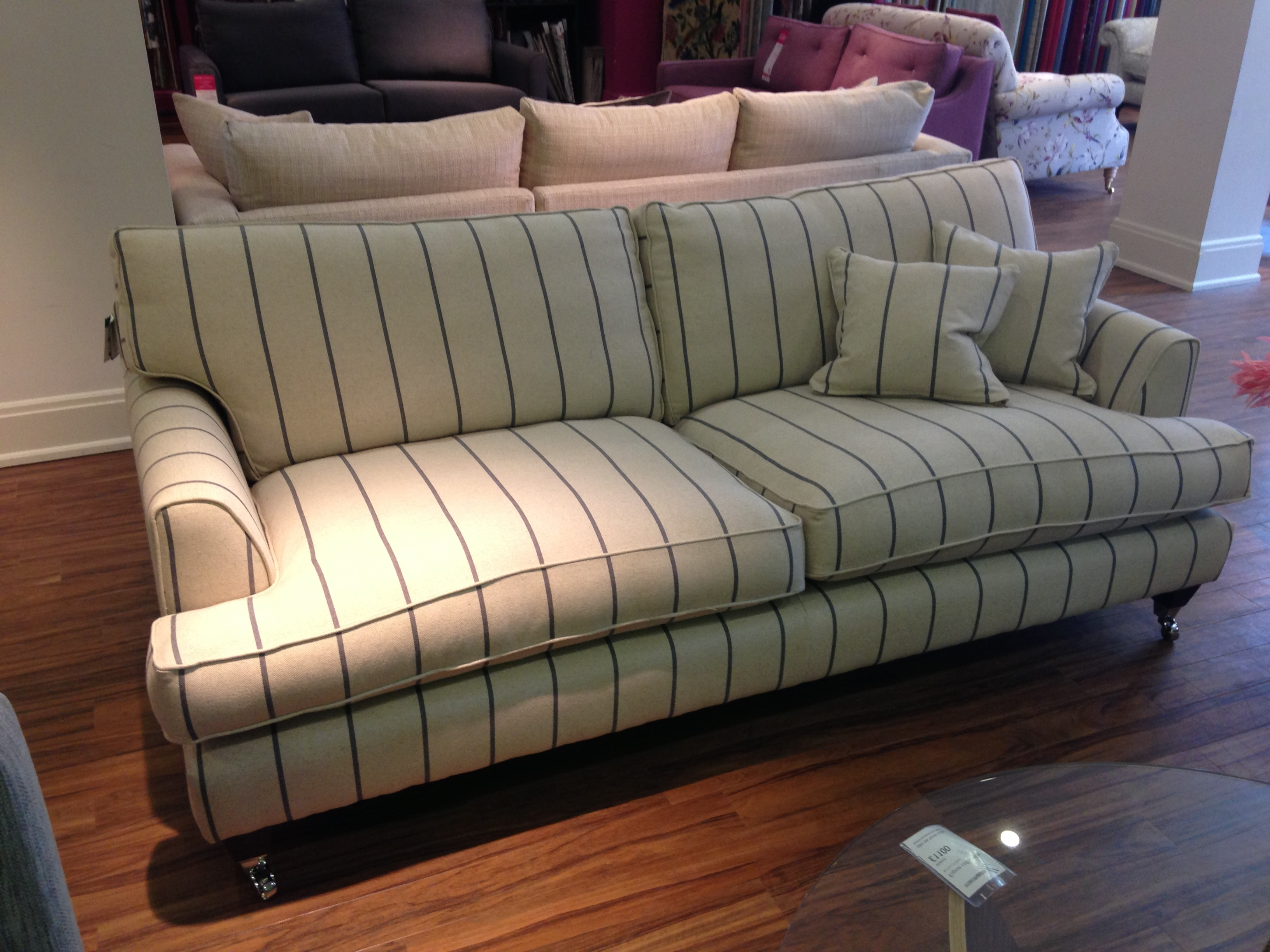 Most Up To Date Florence Sofas Throughout Florence Large Sofa In Heron Stripe Http://www (View 14 of 20)