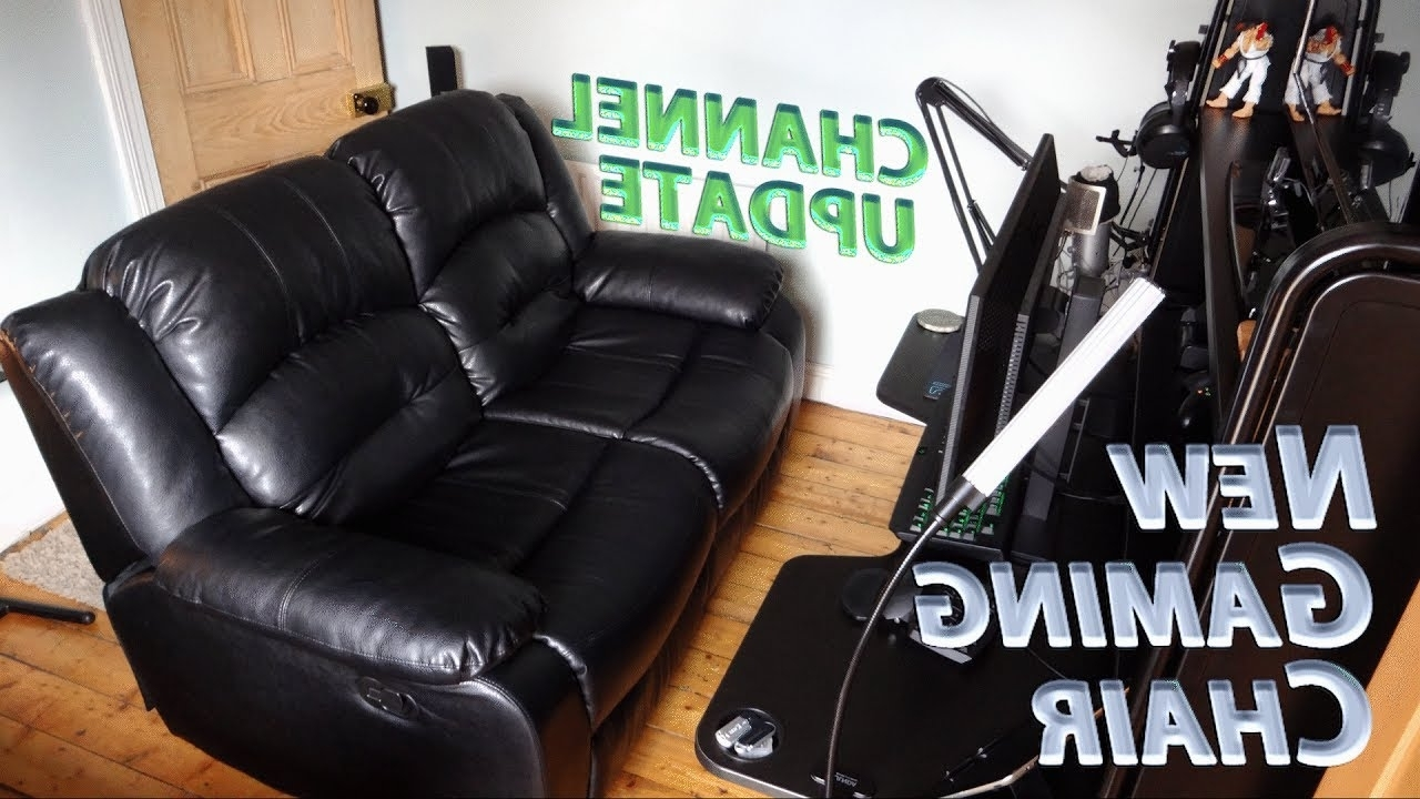 Most Up To Date Gaming Sofa Chairs Within Gaming & Editing Setup Overhaul » Hello Recliner Sofa, Goodbye (View 10 of 20)