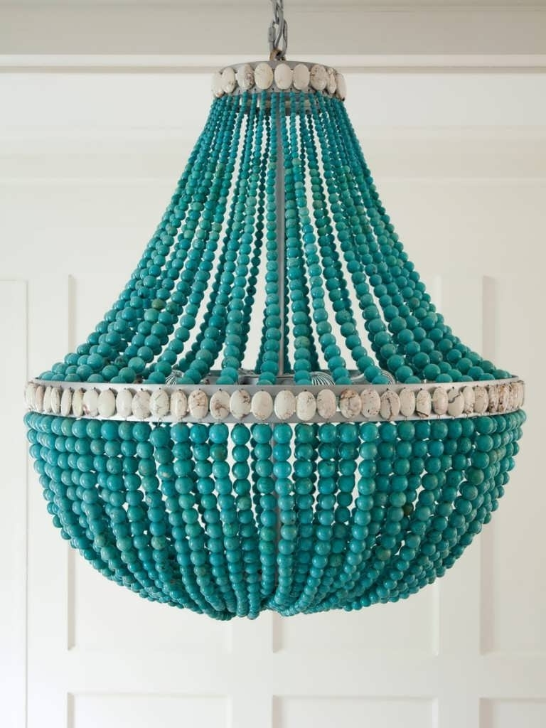 Most Up To Date Home Design : Turquoise Crystal Chandelier Turquoise Crystal With Turquoise Crystal Chandelier Lights (View 10 of 20)