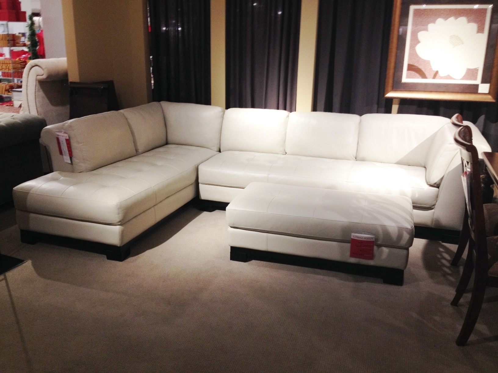 Most Up To Date Macys Leather Sectional Sofas Intended For White Leather Sectional Sofa Macy's • Leather Sofa (View 13 of 20)
