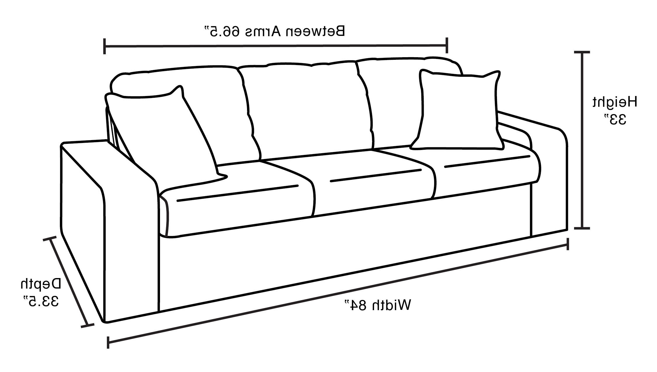 Most Up To Date Measurements Sectional Sofas In Standard Sofa Size Perfect Sofa Dimensions Standard Couch Styles (View 17 of 20)