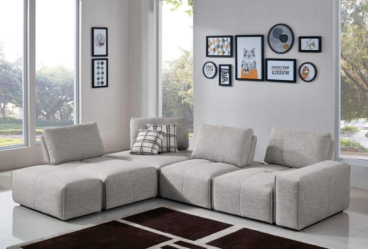 Most Up To Date Modular Sectional Sofas With Casa Platte Modern Grey Fabric Modular Sectional Sofa (View 13 of 20)