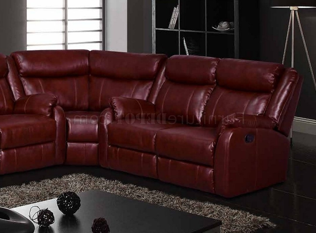 Most Up To Date Motion Sectional Sofa In Burgundyglobal With Motion Sectional Sofas (View 11 of 20)