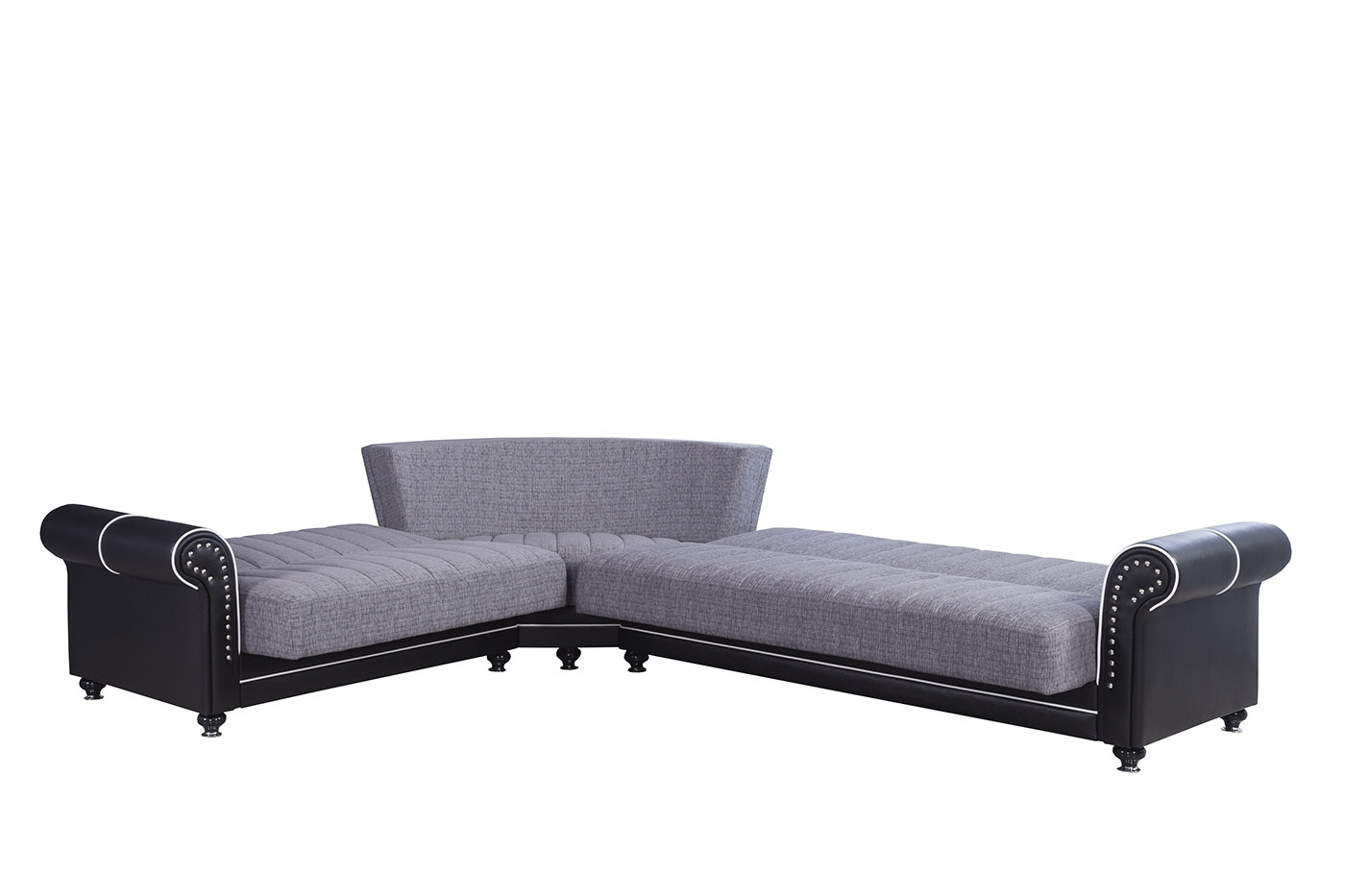 Most Up To Date Niagara Sectional Sofas For Royal Home Quantro Gray Convertible Sectionalcasamode (Gallery 16 of 20)