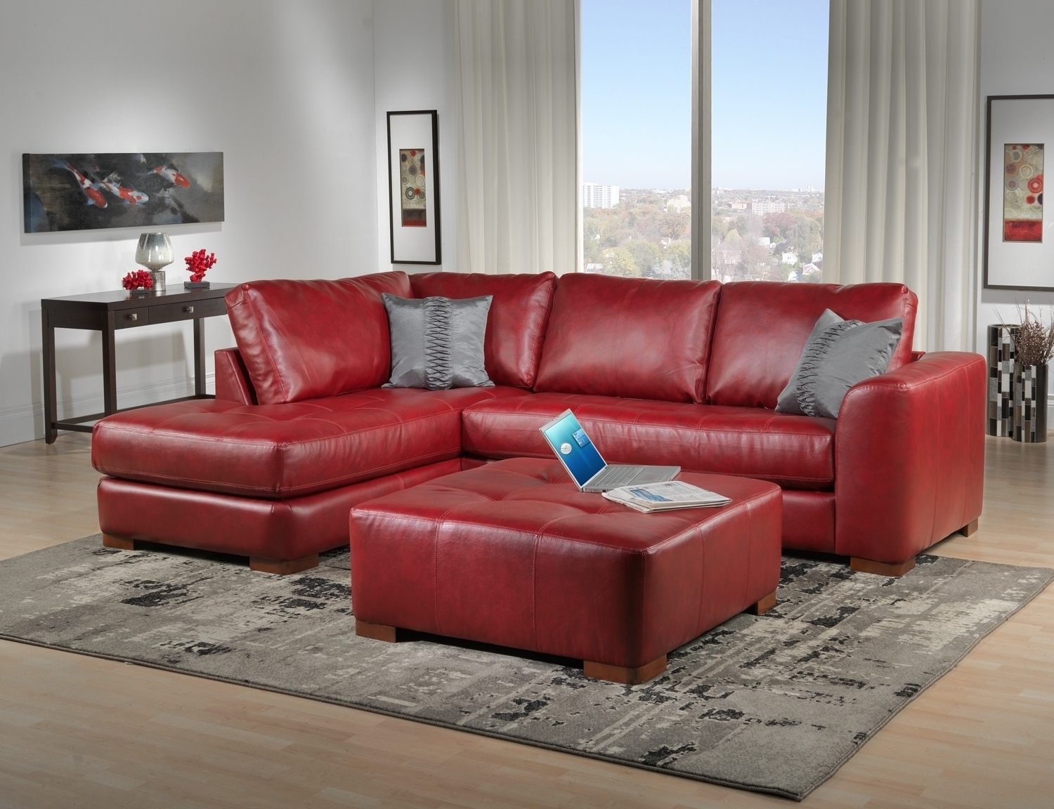 Most Up To Date Red Leather Couches Throughout Decorating Ideas Living Room Red Leather Sofa (View 5 of 20)