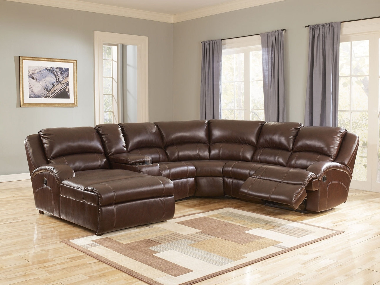 Most Up To Date Remarkable Leather Sectional Sofa With Power Recliner 21 For Your With Sectional Sofas With Power Recliners (View 16 of 20)