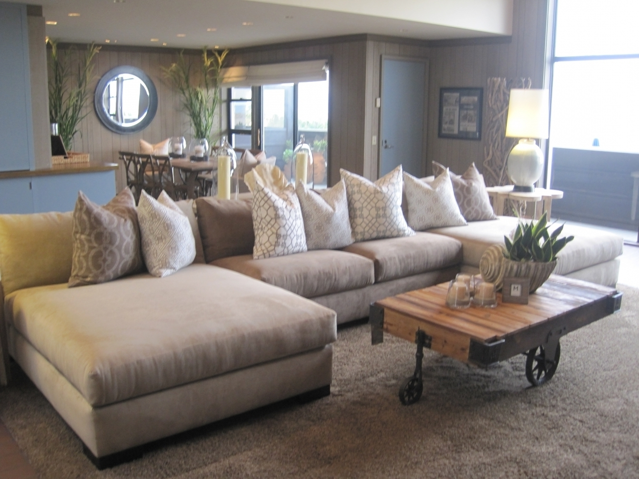Most Up To Date Sectionals With Oversized Ottoman Inside Sofa : Elegant Oversized Sectional Sofa Picture Oversized (View 11 of 20)