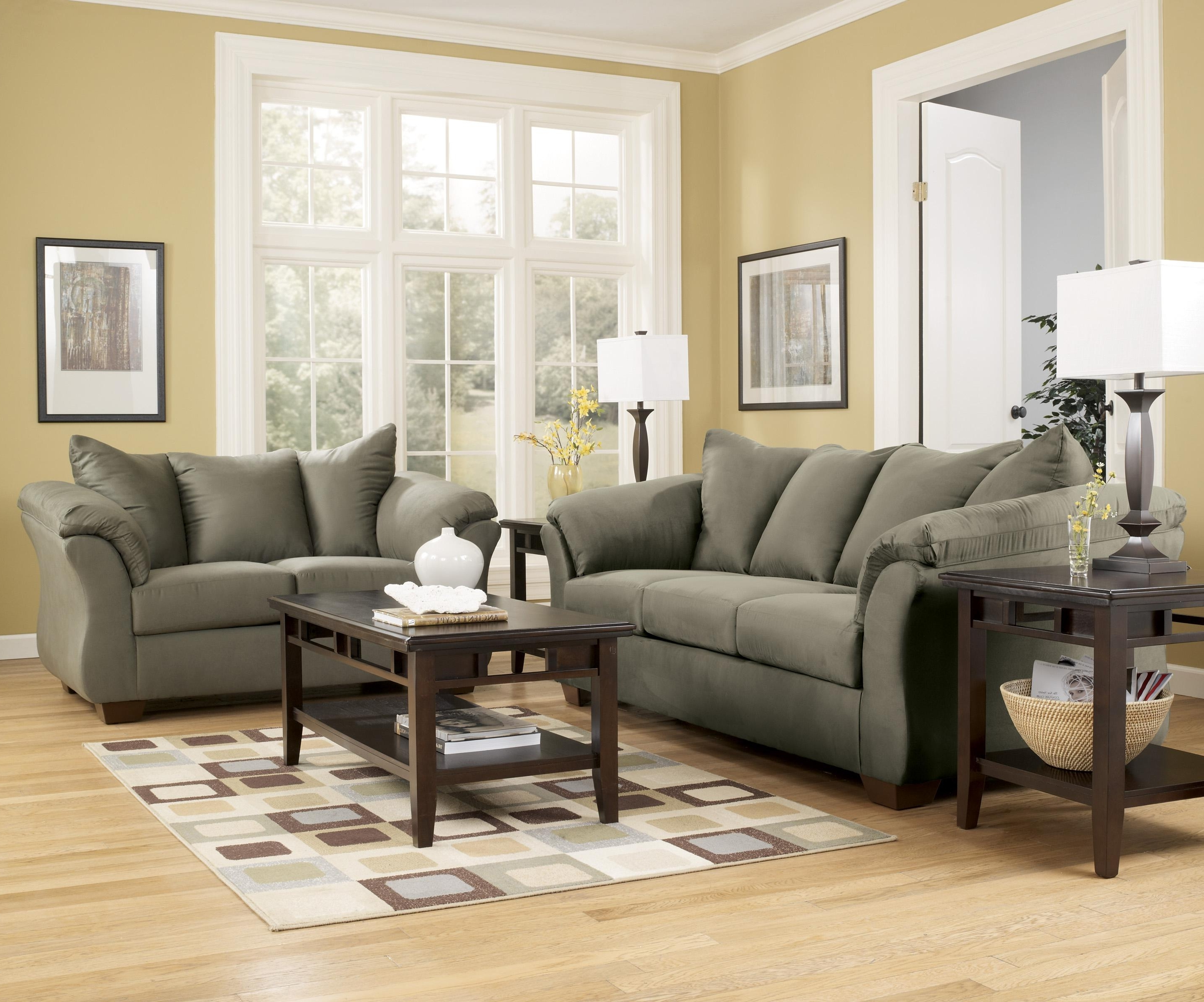 Most Up To Date Signature Designashley Darcy – Sage Contemporary Sectional Pertaining To 102X102 Sectional Sofas (View 12 of 20)