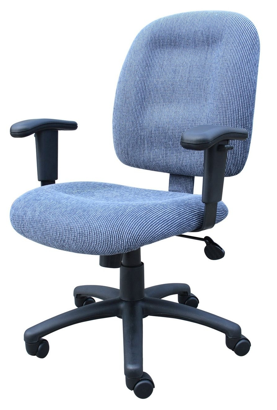 Most Up To Date Sky Blue Ergonomic Fabric Task Office Chairs With Adjustable Arms Regarding Executive Office Chairs With Adjustable Arms (View 14 of 20)