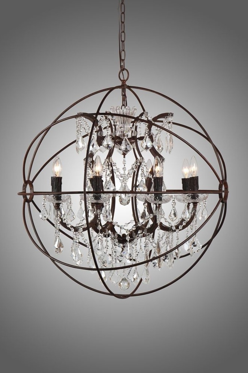 Most Up To Date Small Rustic Crystal Chandeliers With Regard To Chandeliers : Rustic And Crystal Chandelier Pottery Barn Chandeliers (View 11 of 20)