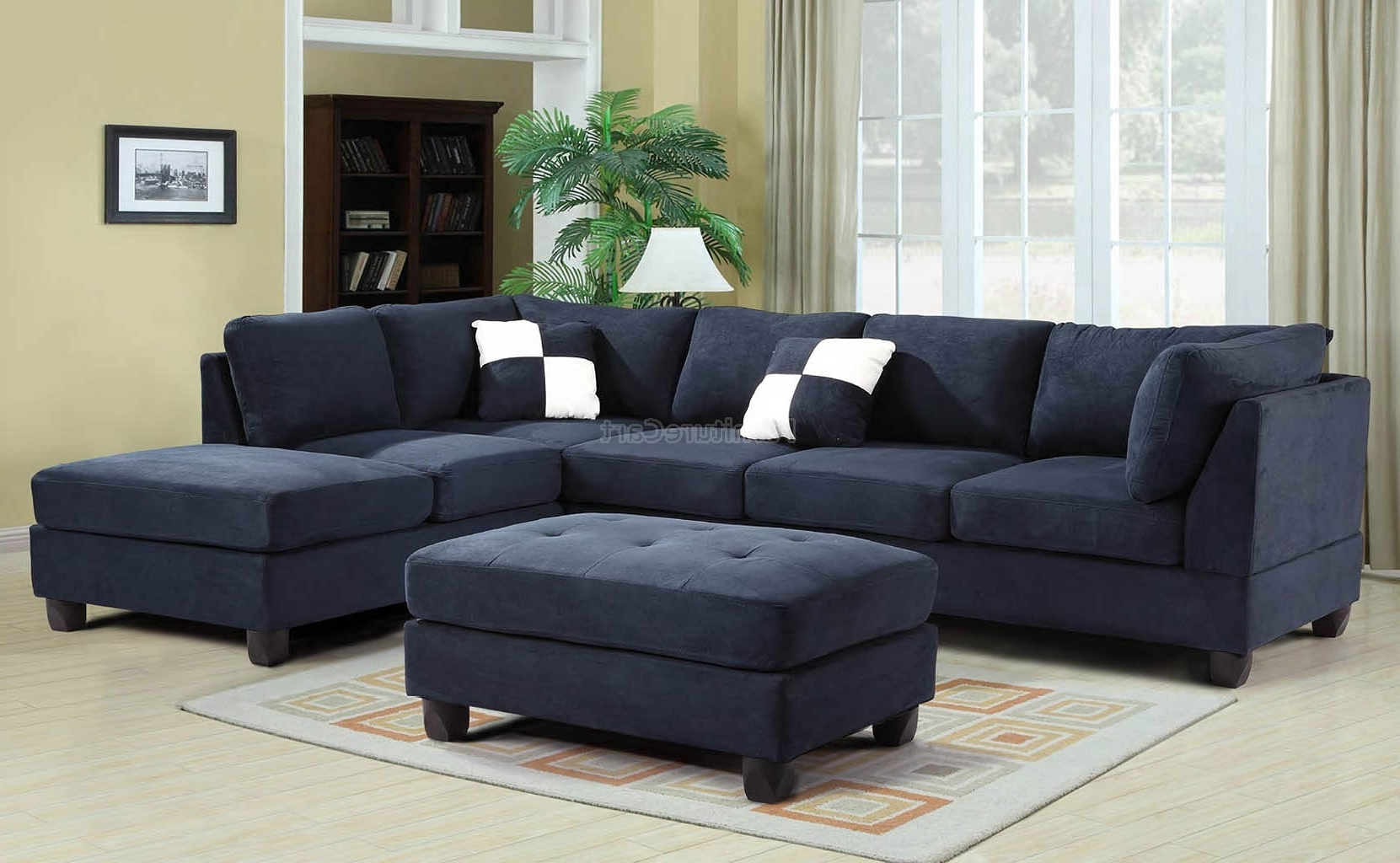 Most Up To Date Sofa : Blue Sectional Sofa Microfiber Blue Sectional Sofas Royal In Blue Sectional Sofas (View 16 of 20)