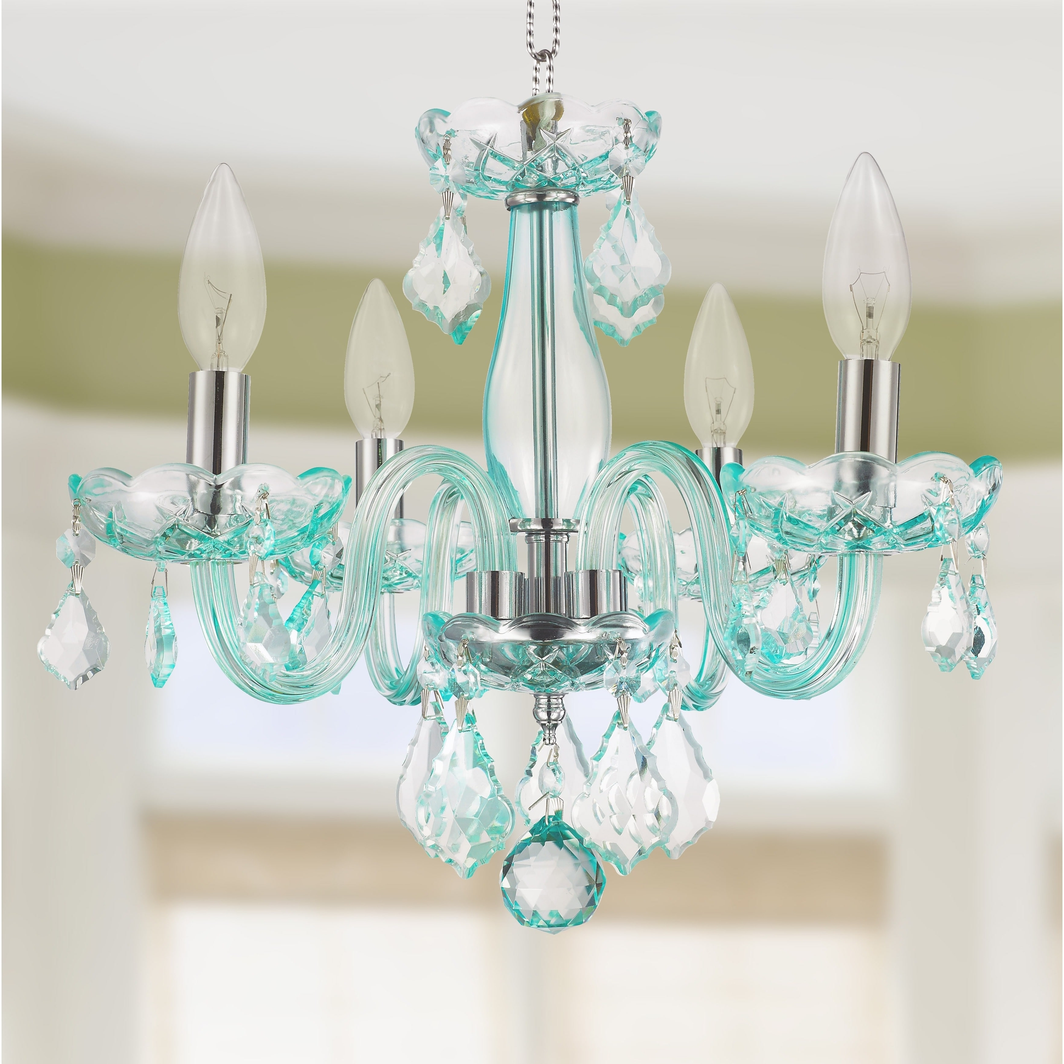 Most Up To Date Turquoise Blue Chandeliers Intended For Chandeliers : Teal Chandelier Beautiful Kids Room Glamorous 4 Light (View 16 of 20)