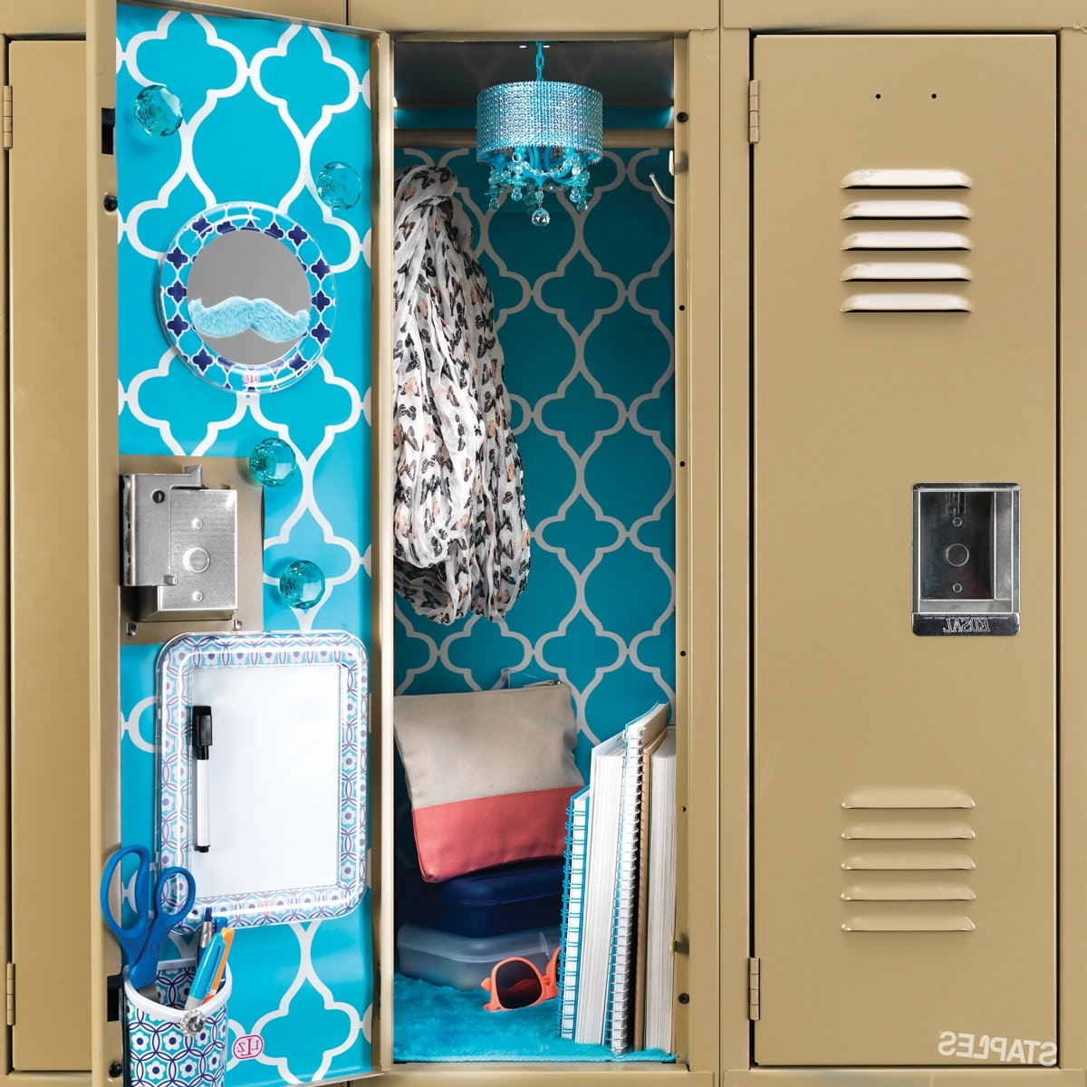 Most Up To Date Turquoise Locker Chandeliers In Add A Bit Of Personality To Your Locker This School Year With (View 12 of 20)